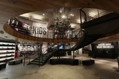 converse flagship store - san francisco. love the sneaker chandelier.