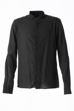 Shirt Stand Collar Wool Super 110