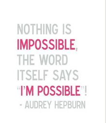 Audrey was so wise.