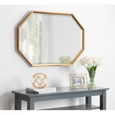 online shopping for Gatsby Elongated Octagon Modern Beveled Accent Mirror Brayden Studio from top store. See new offer for Gatsby Elongated Octagon Modern Beveled Accent Mirror Brayden Studio Gatsby, Octagon Mirror, Octagon Window, Beveled Mirror, Colored Dining Chairs, Diy Home, Home Decor, Wall Mounted Mirror, Wall Mirrors