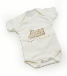 #Tiny Me Organic Sleepy Bear #Bodysuit available online at http://www.babycity.co.uk/