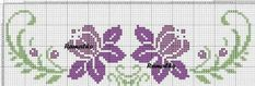 Here you can look and cross-stitch your own flowers. Cross Stitch Borders, Cross Stitch Alphabet, Cross Stitch Flowers, Cross Stitch Designs, Cross Stitching, Cross Stitch Embroidery, Hand Embroidery, Cross Stitch Patterns, Bordado Tipo Chicken Scratch
