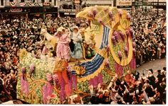 mardi gras floats 1940s | Vintage Postcard, Mardi Gras Day In New Orleans, Postmarked 1957