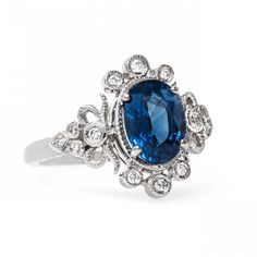 Vintage Sapphire Engagement Rings | Trumpet & Horn