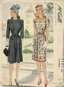An original ca. 1943 McCall's pattern 5121.  Misses' Dress.