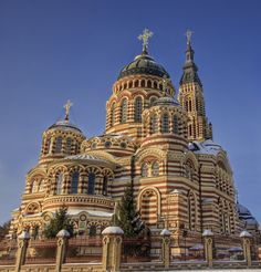 Kharkov, Ukraine Fortress Cathedral (by Stuck in Customs) Church Architecture, Beautiful Architecture, Beautiful Buildings, Beautiful Places, Ukraine, Cathedral Church, Chapelle, Place Of Worship, Kirchen