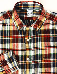 Indian Madras Shirt Collection from Kiel James Patrick