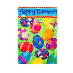 Easter Garden Flag Happy Easter >>> Click image for more details.