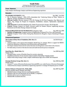 Science Resume Sample Collection How Write Simple Computer Template