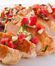 This griddled chicken is perfect for a quick and healthy dinner. Add a little extra chilli to your salsa for an extra fiery kick!