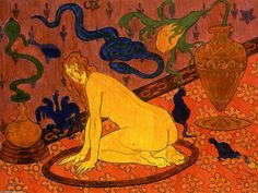 Paul-Élie Ranson [French Nabi Painter, 1864-1909]  - The Witch in Her Circle, 1892