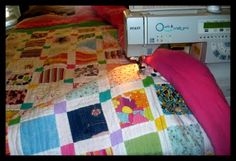 Tutorial on how to make a quilt out of baby clothes.  (Some day I WILL do this!)