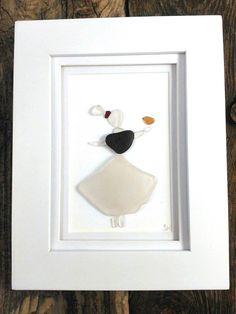 Sea glass maiden// Sea glass art// Beach decor// Sea glass// Prince Edward Island// Red Island Sea Glass