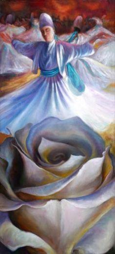 Sufi Dance Painting: