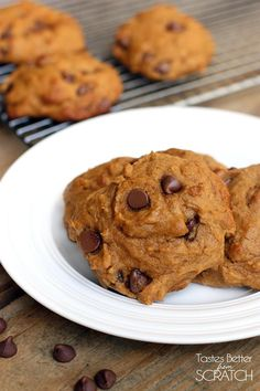The BEST Pumpkin Chocolate Chip Cookies- I've tried a million recipes and non compare to these! Big, fluffy, moist and the best flavor!