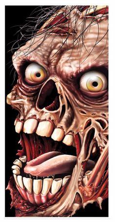 """Beistle 30""""X5' Zombie Door Cover (00006)"""