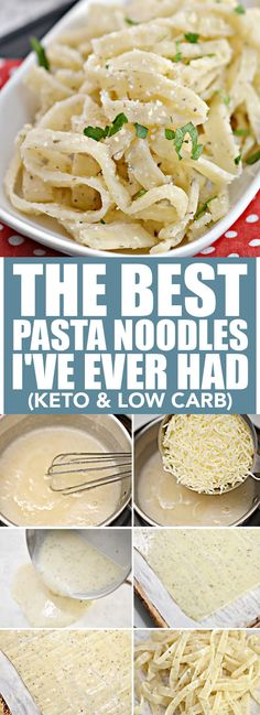 The Best Keto Pasta Noodles I've Ever Had (Keto & Low Carb) Low Carb dinner – Dinner Recipes Low Carb Keto, Low Carb Recipes, Diet Recipes, Cooking Recipes, Healthy Recipes, Quick Recipes, Cheese Recipes, Clean Recipes, Healthy Snacks