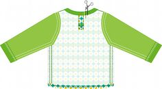 Materials:  * Knit fabric Alice Apple  - 150 cm x 50 cm (60 in x 20 in) ( long sleeve )  * Ribbing ( neckband )  * Two...