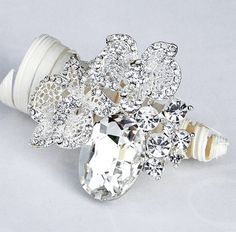 Rhinestone Brooch Component 22 Crystal Flower by yourperfectgifts, $9.98