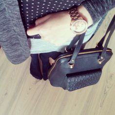 #handbag #clock #cardigan