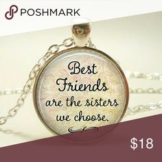 "🆕Best Friends Necklace New Best Friends necklace Silver chain Chain length approximately 20"" long Jewelry Necklaces"