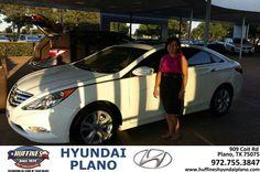 #HappyAnniversary to Stacy Espinoza on your 2013 #Hyundai #Sonata from Frank White at Huffines Hyundai Plano!