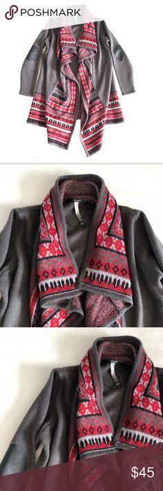"NWOT Kensie sweater coat M/L NWOT Kensie sweater coat Size M/L Chest 46"" Length 38"" Patches on elbows Kensie Jackets & Coats"