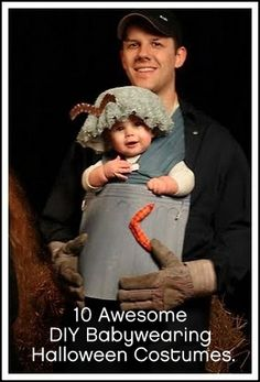 Need some inspiration? Here you go! 10 Awesome DIY Halloween Babywearing Costumes.