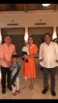 With first daughter Sarah, Bong Go and two grandkids Christopher Lawrence, President Of The Philippines, Rodrigo Duterte, War On Drugs, First Daughter, Political Science, Foreign Policy, Presidential Election, Grandkids