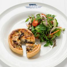 Roasted Red Onion and Gruyere Tartlet This is the perfect pick-me-up lunch to squeeze in between a game of outdoor tennis and a ride down the Rapids. Find it at Sports Cafe, and enjoy a light, buttery pastry crust, with sweet roasted red onions and the rich tang of gruyere. Served warm and melting, with a side salad.