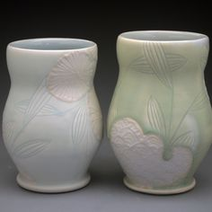 slip trailing and carving by Jen Allen