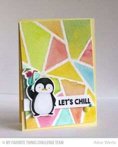 Penguins in Paradise, Abstract Cover-Up Die-namics, Penguins in Paradise Die-namics - Alice Wertz  #mftstamps