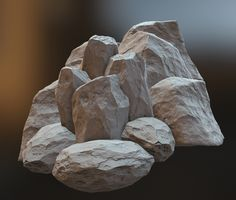 Rawk - Post any rocks you make here! - Page 28 - Polycount Forum 3d Texture, Stone Texture, Stone Game, Foam Carving, Stone Art Painting, Fake Stone, Photoshop Rendering, Sketching Techniques, Digital Painting Tutorials