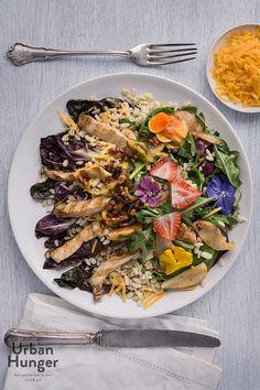 Sonnenweizen-Salat mit Grillgemüse / Wheat Salad with Grilled Vegetables