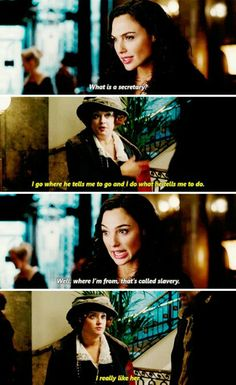 Wonder Woman I know it isn't marvel but i just liked it. Gal Gadot Wonder Woman, Wonder Woman Movie, Wonder Woman Funny, Wonder Women, Dc Comics, Dc Memes, Dc Universe, Movie Quotes, Batman Robin