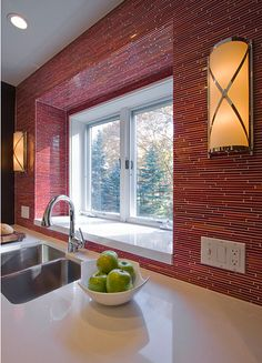 Www Alysedwards Blog Red Kitchen Tiles Contemporary Backsplash