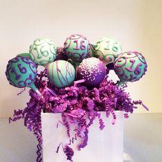 Sweet 16 Cake Pop Centerpiece Cake Pop Centerpiece, Edible Centerpieces, Sweet 16 Cupcakes, Event Ideas, Party Ideas, Desert Bar, 16 Cake, Flower Cupcakes, Buttercream Flowers