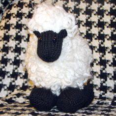 Free knitting pattern for wooly sheep