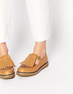 ASOS+MAST+T-Bar+Fringe+Shoes