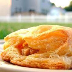 Pear, Caramelised Onion and Stilton Pastry Triangles @ allrecipes.co.uk