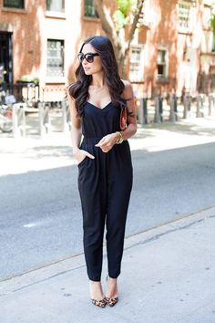 Black and beautiful – if this is your first time wearing (or even buying) a jumpsuit, I would recommend that you get your first jumpsuit in black. This is simply because black is such a great neutral color that goes well with anything and everything and it would be easier to accessorize a black jumpsuit, too. Black makes you look slimmer as well so it's perfect if you need to look thinner while you work on shedding those extra pounds off.
