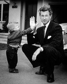 Jeff Bridges with his father, Lloyd Bridges, ca. 1951.