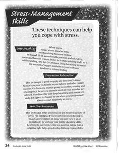 effective stress management techniques pdf