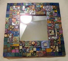 Mosaic Mirror by DSDesigns (Debra Sutton), via Flickr