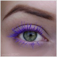 Purple Mascara! I wanna try this on my lower lashess