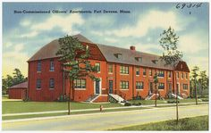 Non-Commissioned Officers' Apartments, Fort Devens, Mass. by Boston Public Library, via Flickr