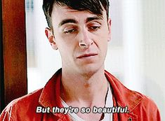 """Rudy // Misfits // GIF // """"Women Are Cruel & Insensitive & They Are Hurtful, But They're So Beautiful"""""""