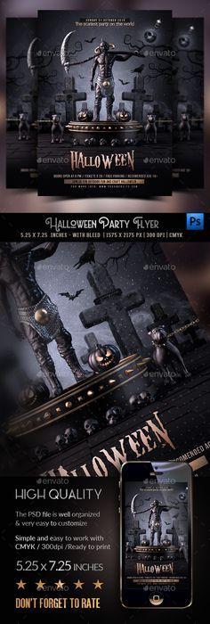 Halloween Flyer / Poster Template PSD, AI Illustrator Halloween