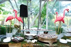 At a table decked out Florida-style with flamingos and palm trees, Fannie May offered artisan chocolates in flavors such as...