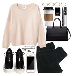 """""""Thursday"""" by dreamcloset1996 ❤ liked on Polyvore featuring Paige Denim, Monki, STELLA McCARTNEY, Squair, BOBBY, Zara, Bobbi Brown Cosmetics, NARS Cosmetics, Butter London and Forever 21"""